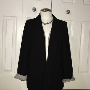 Anthro cartonnier m open front shawl lapel blazer